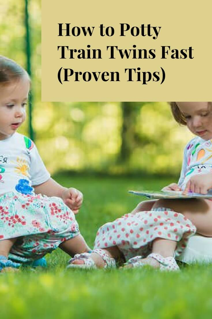 Potty training twins is difficult. But, it's possible to do it in a short amount of time by following these proven tips: