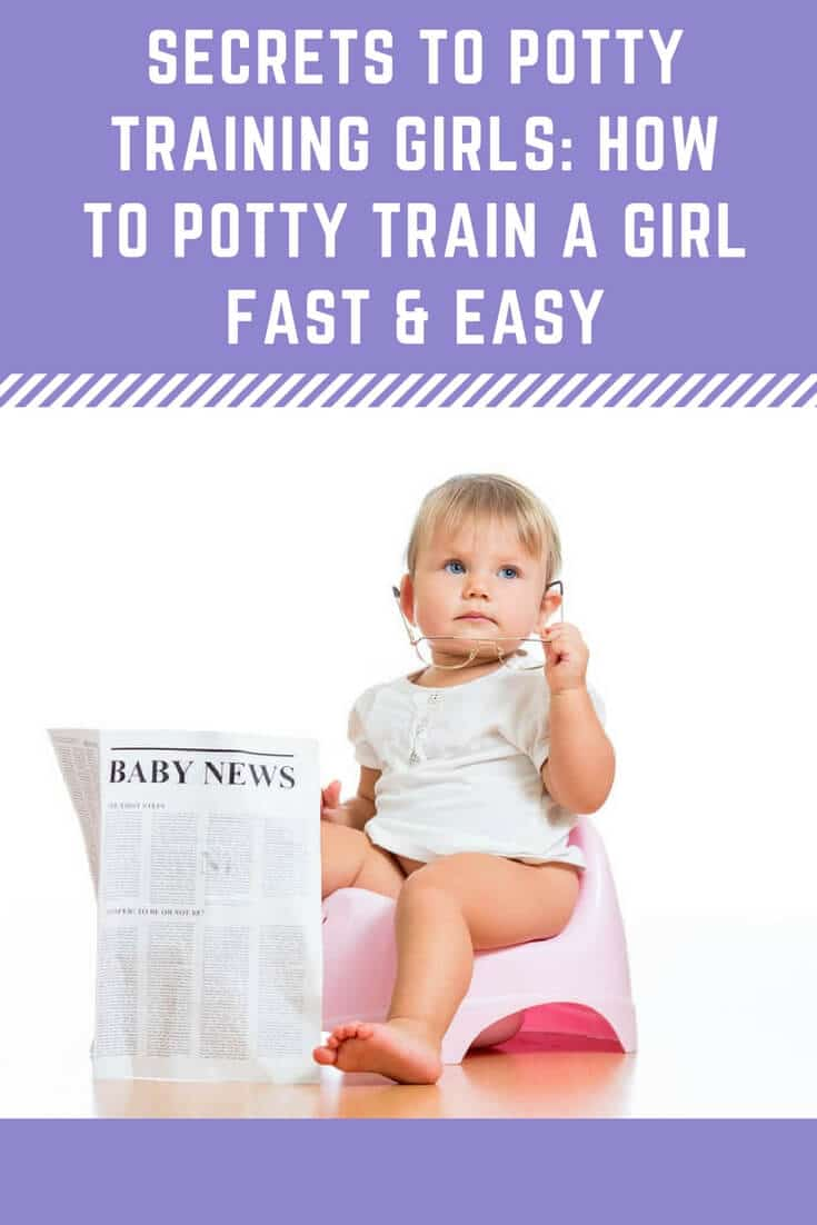 Simple, surefire tips to potty train a girl fast without losing your temper!